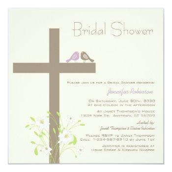 love birds on a cross invitation