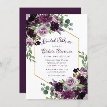 love bloom | moody dramatic passion purple shower invitation
