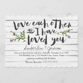 love each other bridal invitation