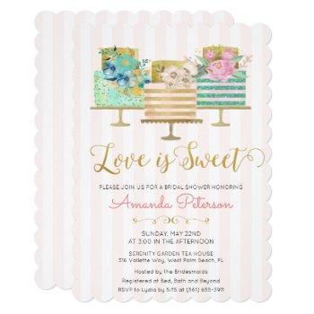 love is sweet bridal shower invitation