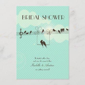love music bridal shower invitation