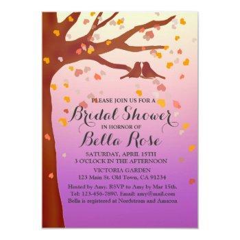 lovebirds oak tree hearts bridal shower love1 invitation