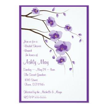 lovely orchid invitation
