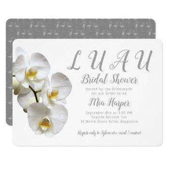 luau orchids custom bridal shower invitation