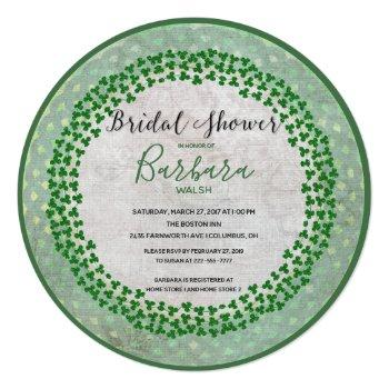 luck of the irish bridal shower invitation