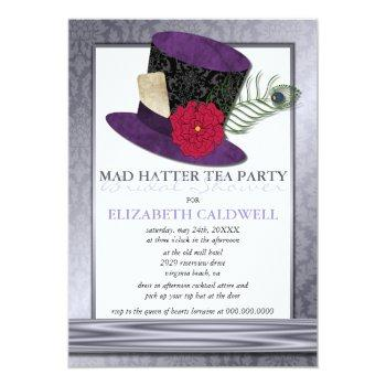 mad hatter bridal shower invitation