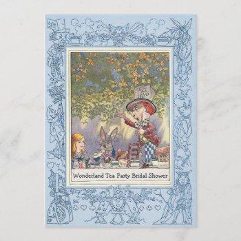 mad hatter's wonderland tea party bridal shower invitation