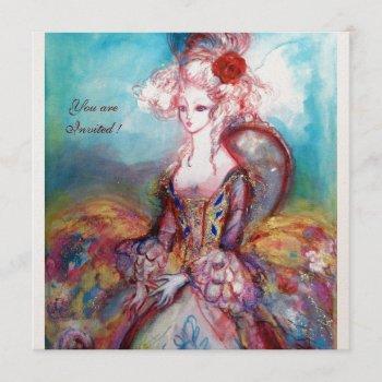 madame pompadour ,classy costume party invitation