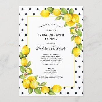 main squeeze lemon bridal shower by mail invitation