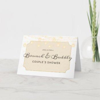 maple grove lights brunch & bubbly couple's shower invitation