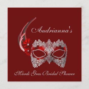 """mardi gras bridal shower"" invitation"