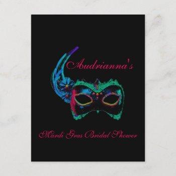 """""""mardi gras bridal shower""""-multiple neon colors[a] invitation"""