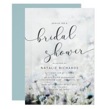 meadow song fading wildflowers boho bridal shower invitation