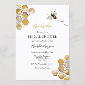 meant to bee bridal shower invitation