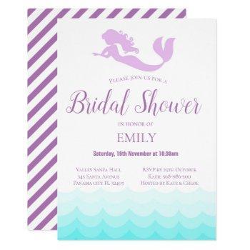 mermaid bridal shower invitation