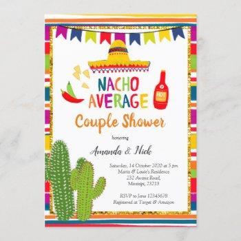 mexican colourful nacho average couple shower invitation