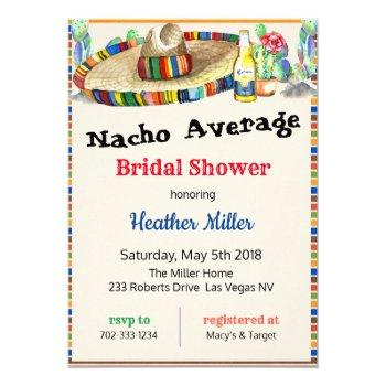 mexican fiesta bridal shower invitation