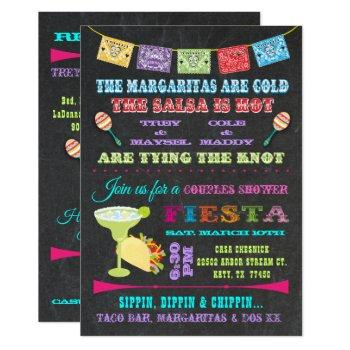 mexican fiesta couples bridal shower invitation