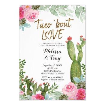 mexican fiesta taco 'bout love couples shower invi invitation