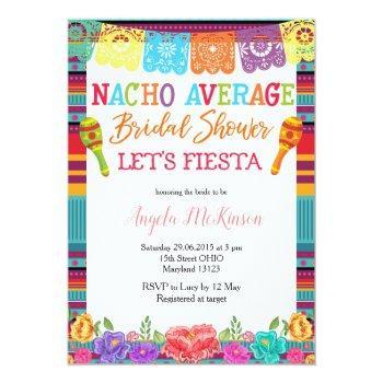 mexican floral cactus nacho average bridal shower invitation