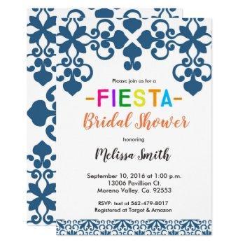 mexican talavera bridal shower invitation