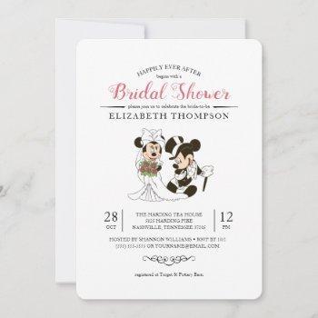 mickey & minnie | bride and groom bridal shower invitation