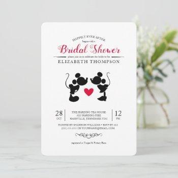 mickey & minnie | silhouette bridal shower invitation