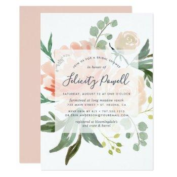 midsummer floral bridal shower invitation
