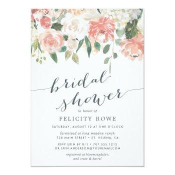 Midsummer Floral | Bridal Shower Invitation Front View