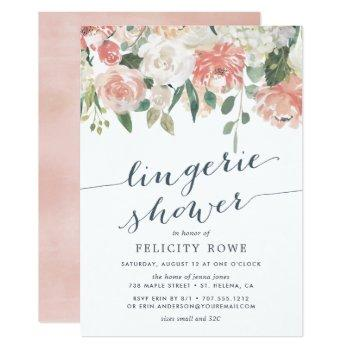 midsummer floral | lingerie shower invitation