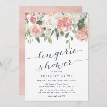 midsummer floral | lingerie shower invitation