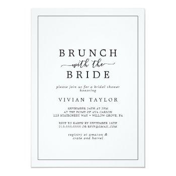 minimalist brunch with the bride bridal shower invitation