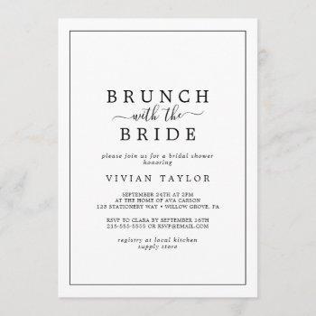 minimalist brunch with the bride bridal shower invitation