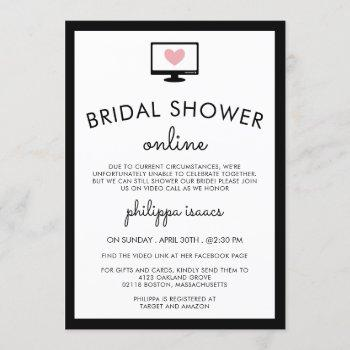 minimalist chic virtual bridal shower invitation