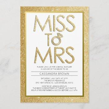 miss to mrs - bridal shower invitation