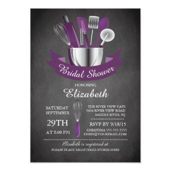 modern chalkboard stock the kitchen bridal shower invitation