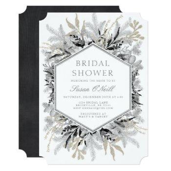 modern holiday bridal shower invitation