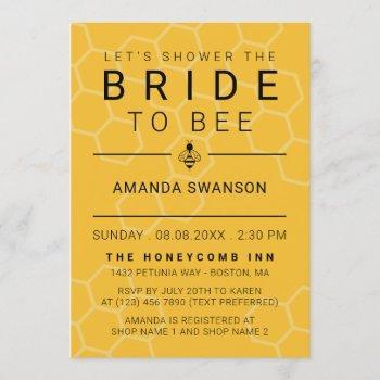 modern honeycomb & bee bridal shower invitation