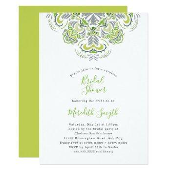 modern mandala bridal shower invitation