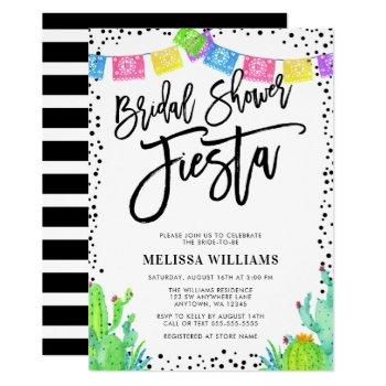 modern mexican fiesta bridal shower invitation