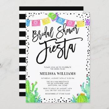 modern mexican fiesta bridal shower invitation