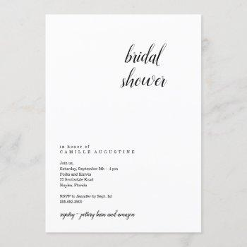 modern & minimalist bridal shower invitation