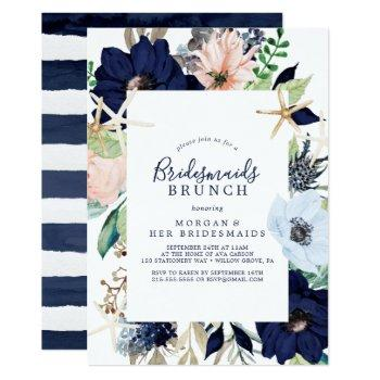 modern nautical | floral bridesmaids brunch invitation