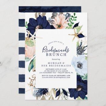 modern nautical | floral bridesmaids brunch invitation