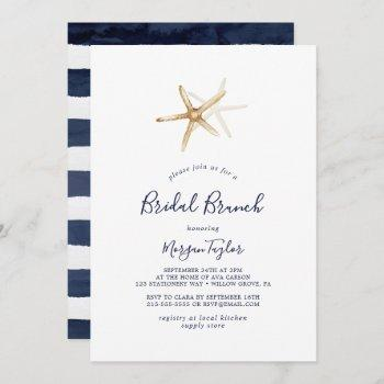 modern nautical | starfish bridal brunch invitation