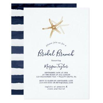 modern nautical | starfish bridal brunch invitation