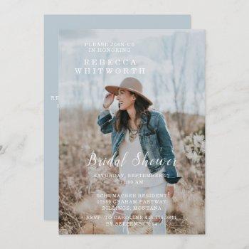 modern photo bridal shower invitation