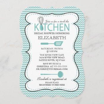 modern stock the kitchen bridal shower invitation