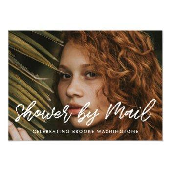 modern typography bridal shower by mail photo invitation