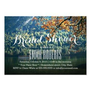 mountain lake theme bridal shower invitations